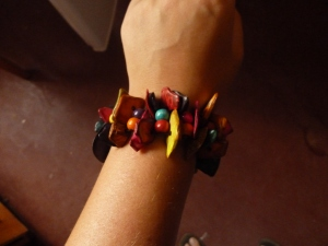colored bead bracelet